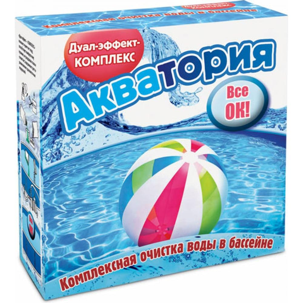 Купить Препарат для комплексной дезинфекции воды в бассейнах ваше хозяйство акватория 1.6 л 4620015696171