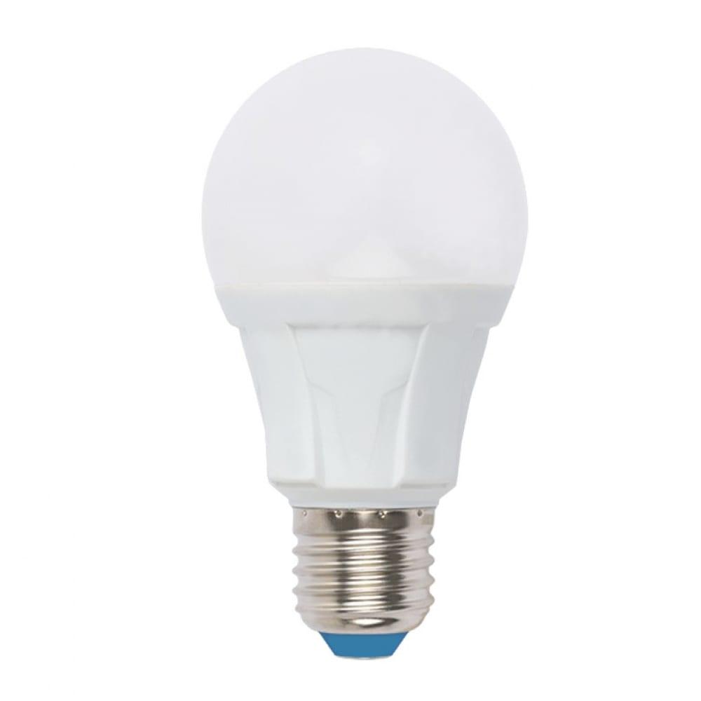 Светодиодная диммируемая лампа uniel led-a60 10w/6500k/e27/fr/dim plp01wh форма а ul-00004285