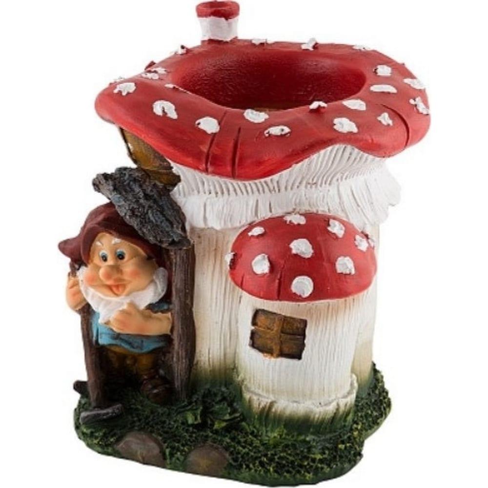Купить Садовая фигурка park гном в грибном домике 169297