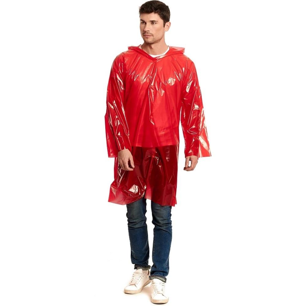 Купить Взрослый универсальный дождевик-плащ спец серия стандарт, цвет красный, пвд гп5-3-к