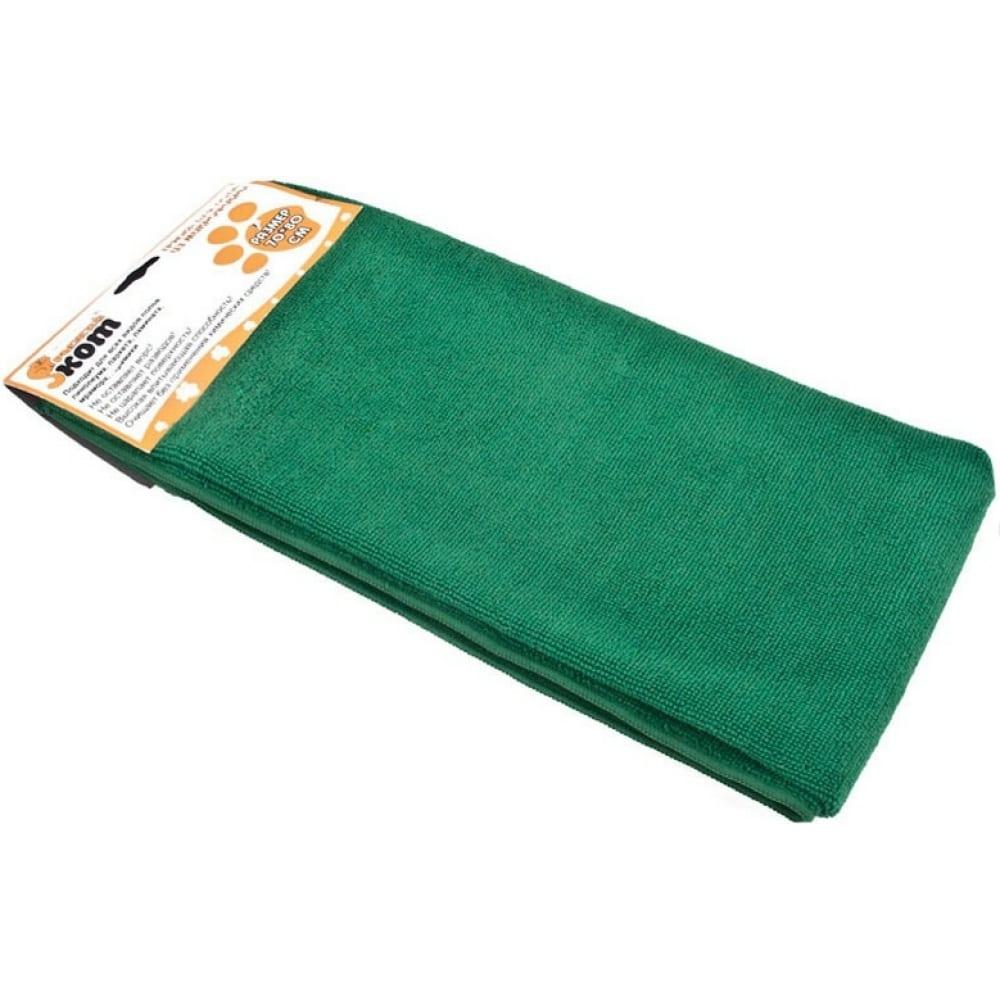 Купить Тряпка для пола из микрофибры рыжий кот m-02f-xxl зеленая, 80х100 см 310265