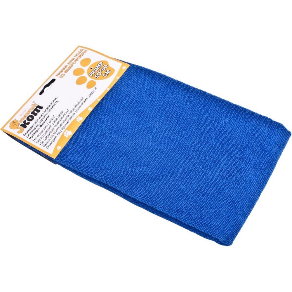 Купить Тряпка для пола из микрофибры рыжий кот m-02f-l синяя, 50х60 см 310236
