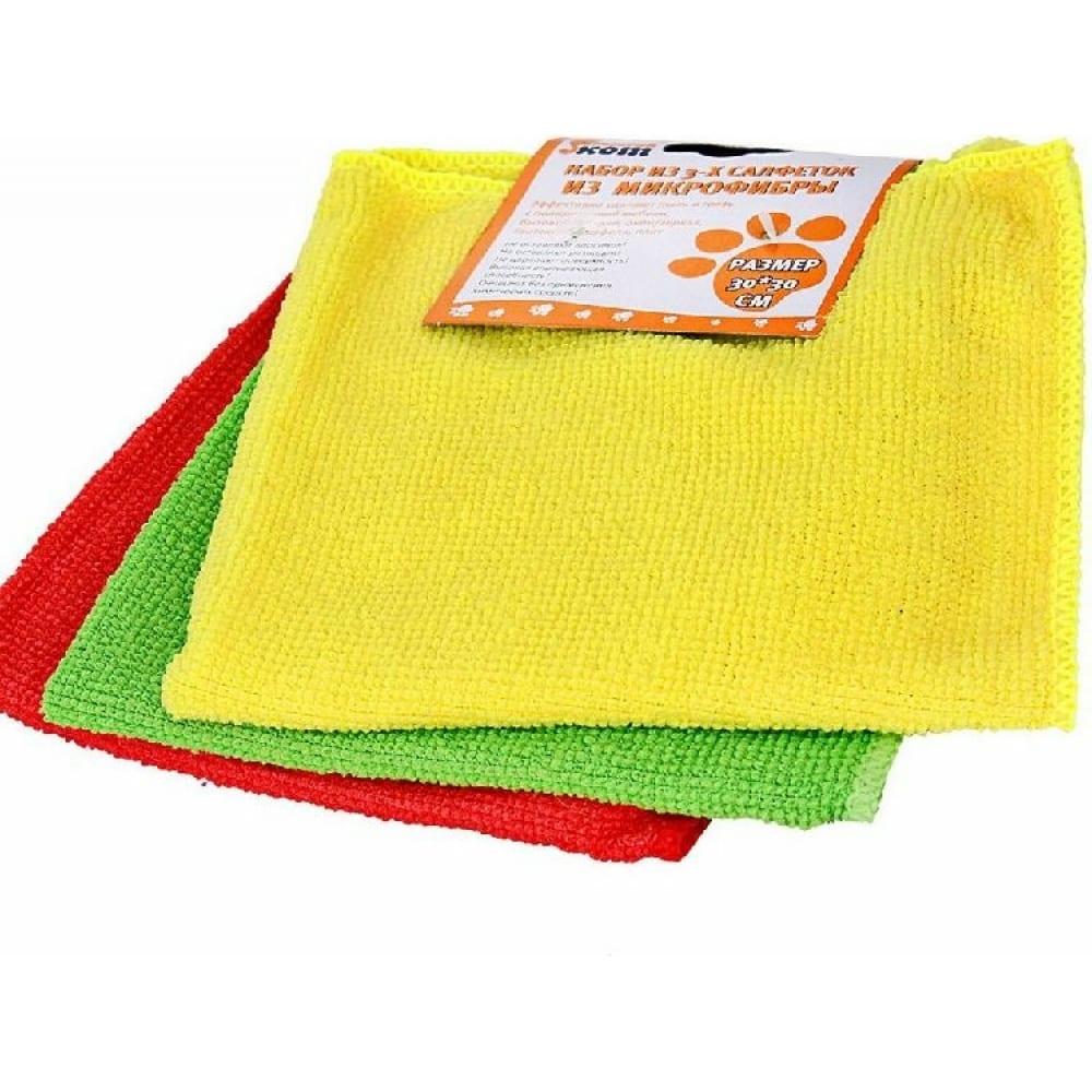 Купить Набор салфеток из микрофибры рыжий кот mfs-02/3 3 шт., 30х30 см 310239