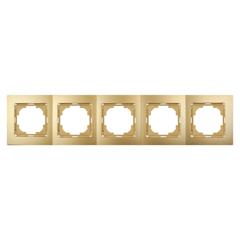 Рамка nilson пятиместная золото touran metallic 24150095