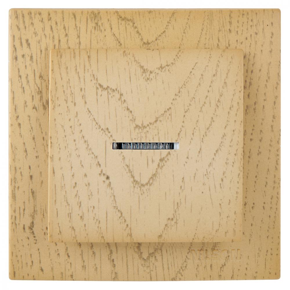 Выключатель nilson 1сп с подсветкой клен touran wood 24281002