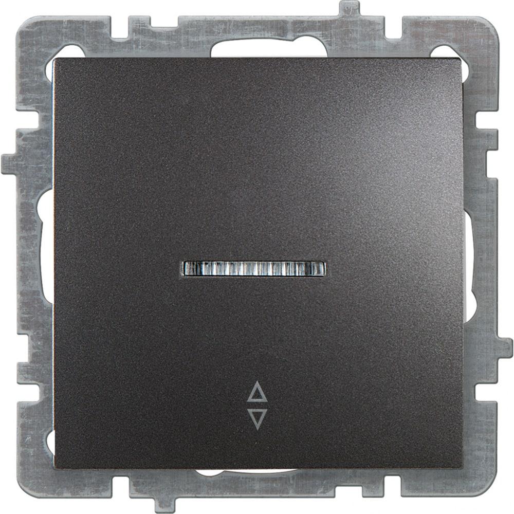Механизм выключателя nilson 1сп проходной с подсветкой антрацит touran/alegra metallic 24160408