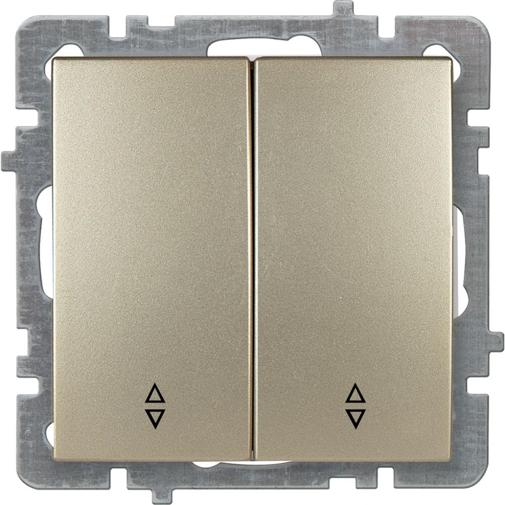 Механизм выключателя nilson 2сп проходной золото touran/alegra metallic 24150409