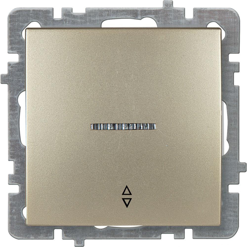 Механизм выключателя nilson 1сп проходной с подсветкой золото touran/alegra metallic 24150408