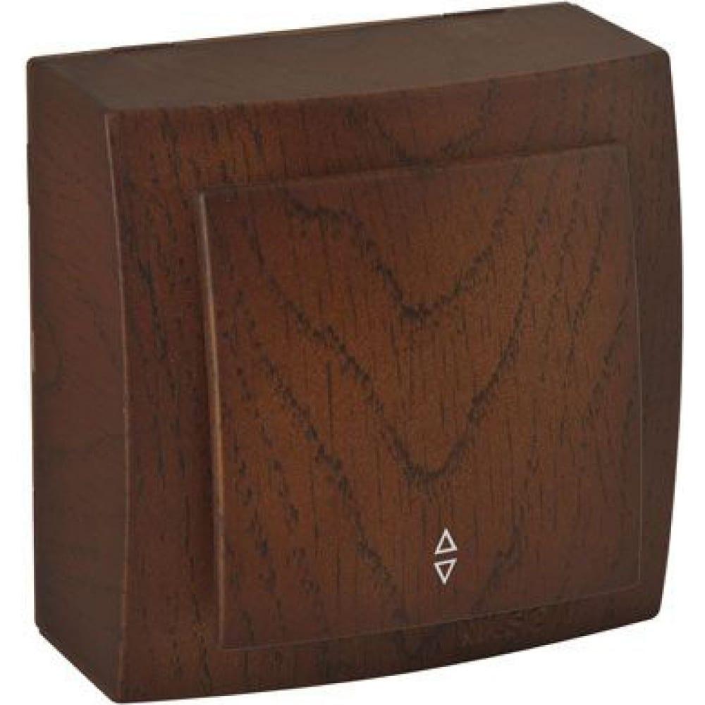 Выключатель nilson 1оп проходной орех themis wood 26271007