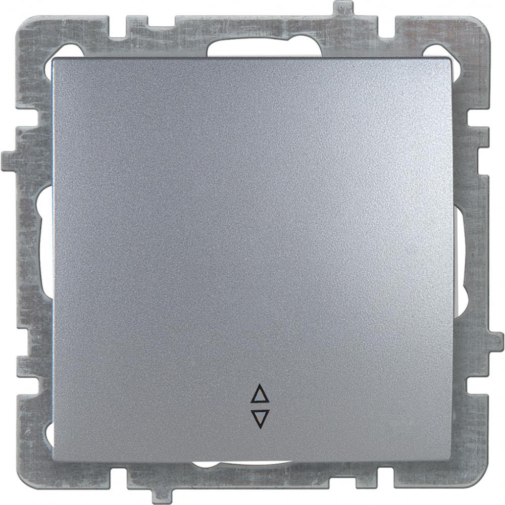 Механизм выключателя nilson 1сп проходной серебро touran/alegra metallic 24130407