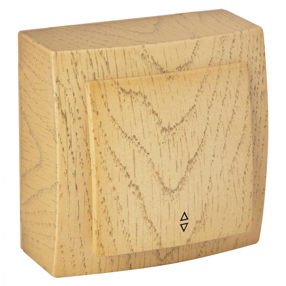 Выключатель nilson 1оп проходной клен themis wood 26281007