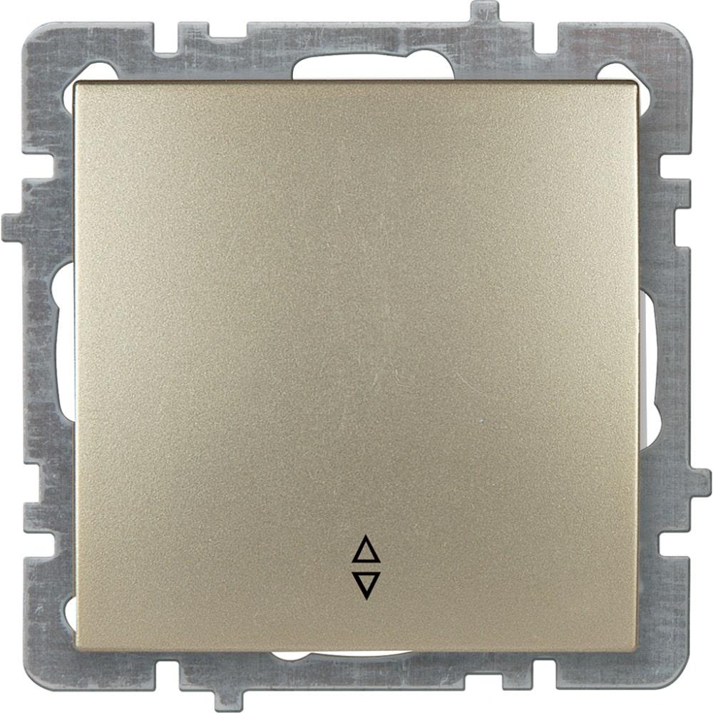 Механизм выключателя nilson 1сп проходной золото touran/alegra metallic 24150407