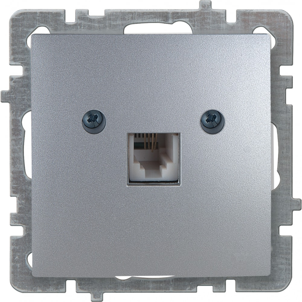 Механизм розетки nilson 1сп телефонный серебро touran/alegra metallic 24130440