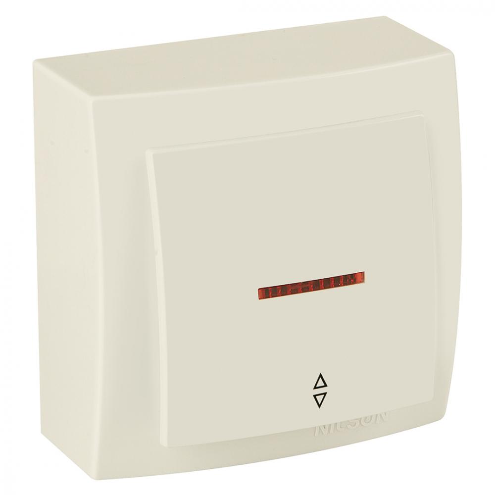 Выключатель nilson 1оп проходной с подсветкой крем themis naturel 26121008