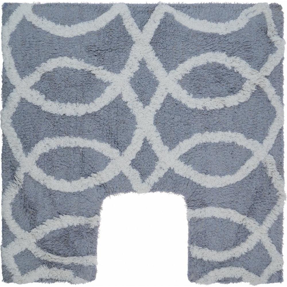 Коврик fora для ванной комнаты, хлопковый, серый,