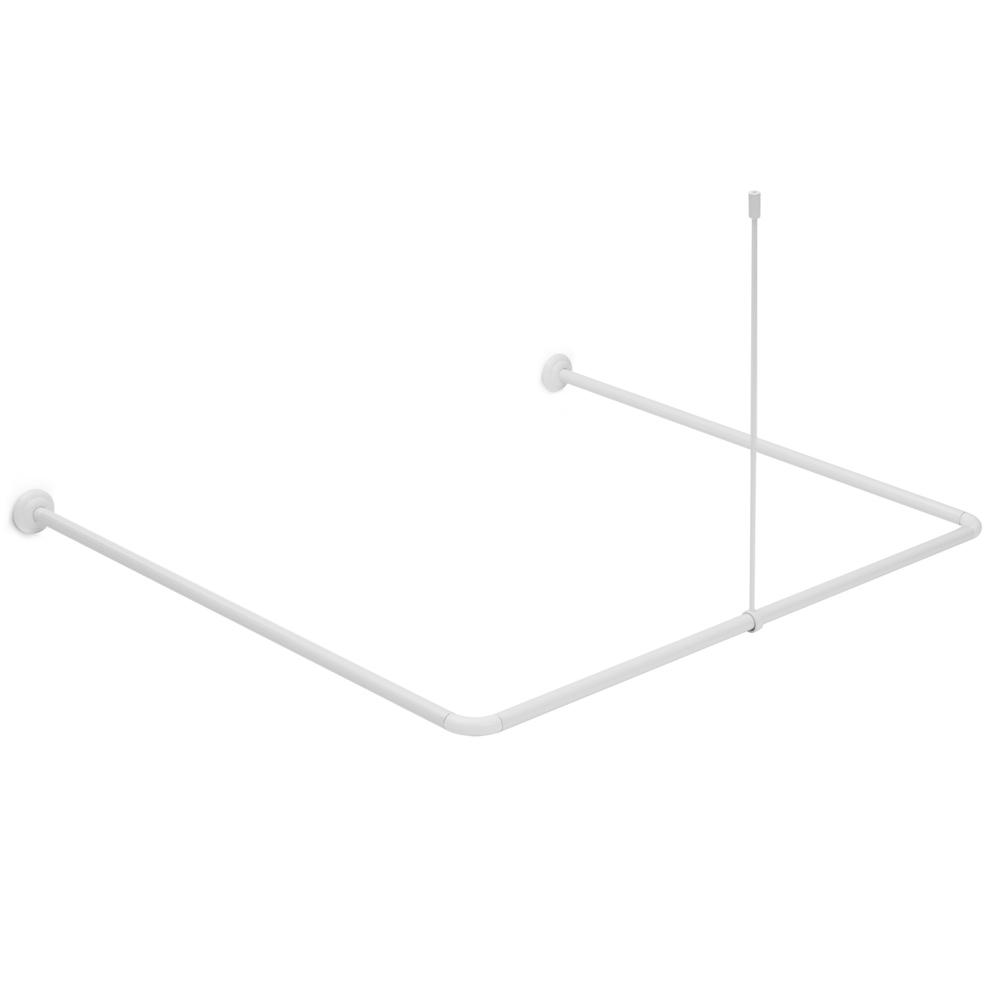 Карниз fora алюминиевый, универсальный, белый, с потолочным