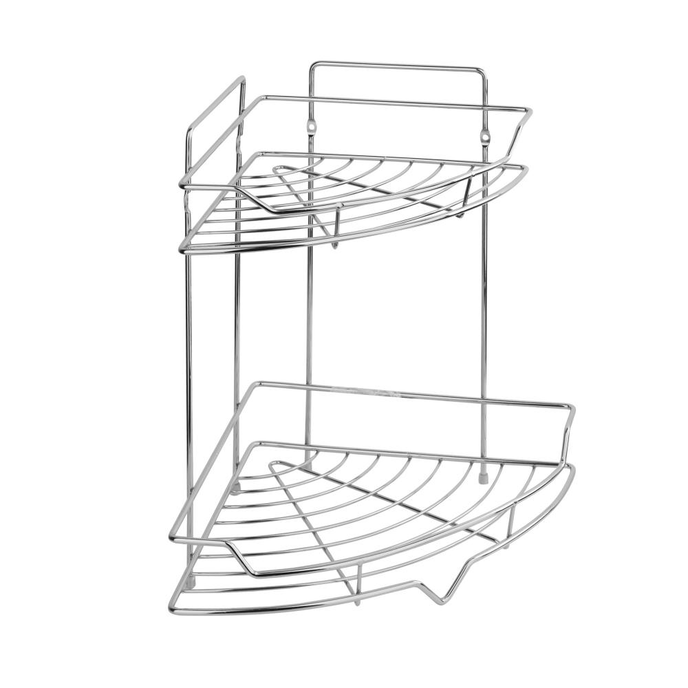 Купить Полка для ванной комнаты и кухни fora corsa угловая, двойная, 35х26х26 см kor-435