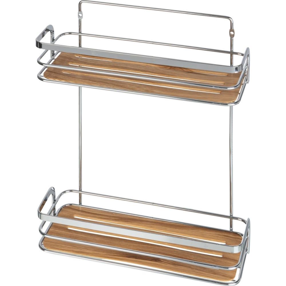 Купить Полка для ванной комнаты fora wood двойная for-wod02