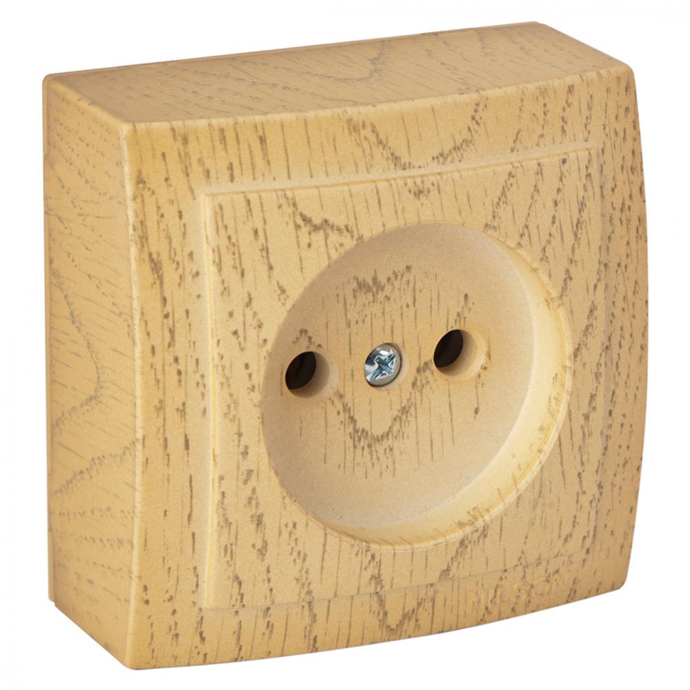 Розетка nilson 1оп клен themis wood 26281015