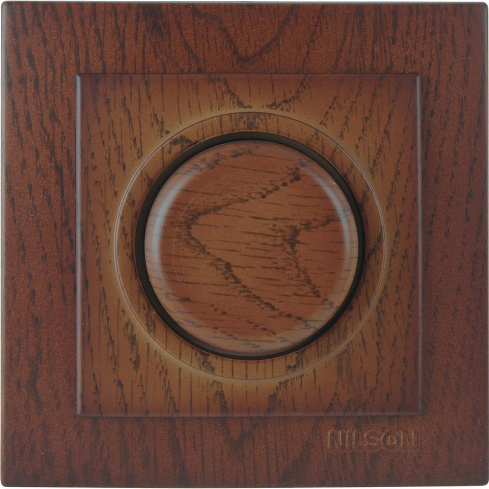 Светорегулятор nilson 1сп 600вт c подсветкой орех touran wood 24271052