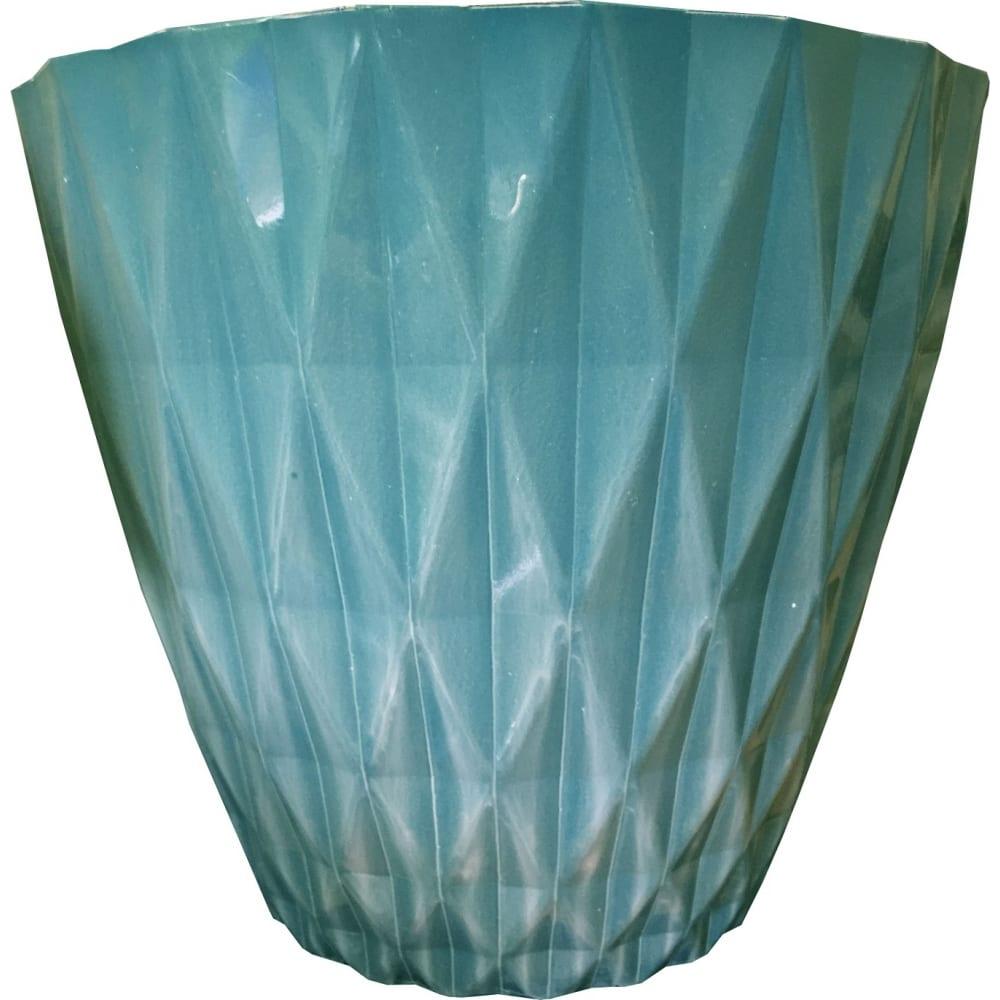 Купить Горшок репка h166bw бокал зеленый с белым глянцем 14, 7 л. 46464