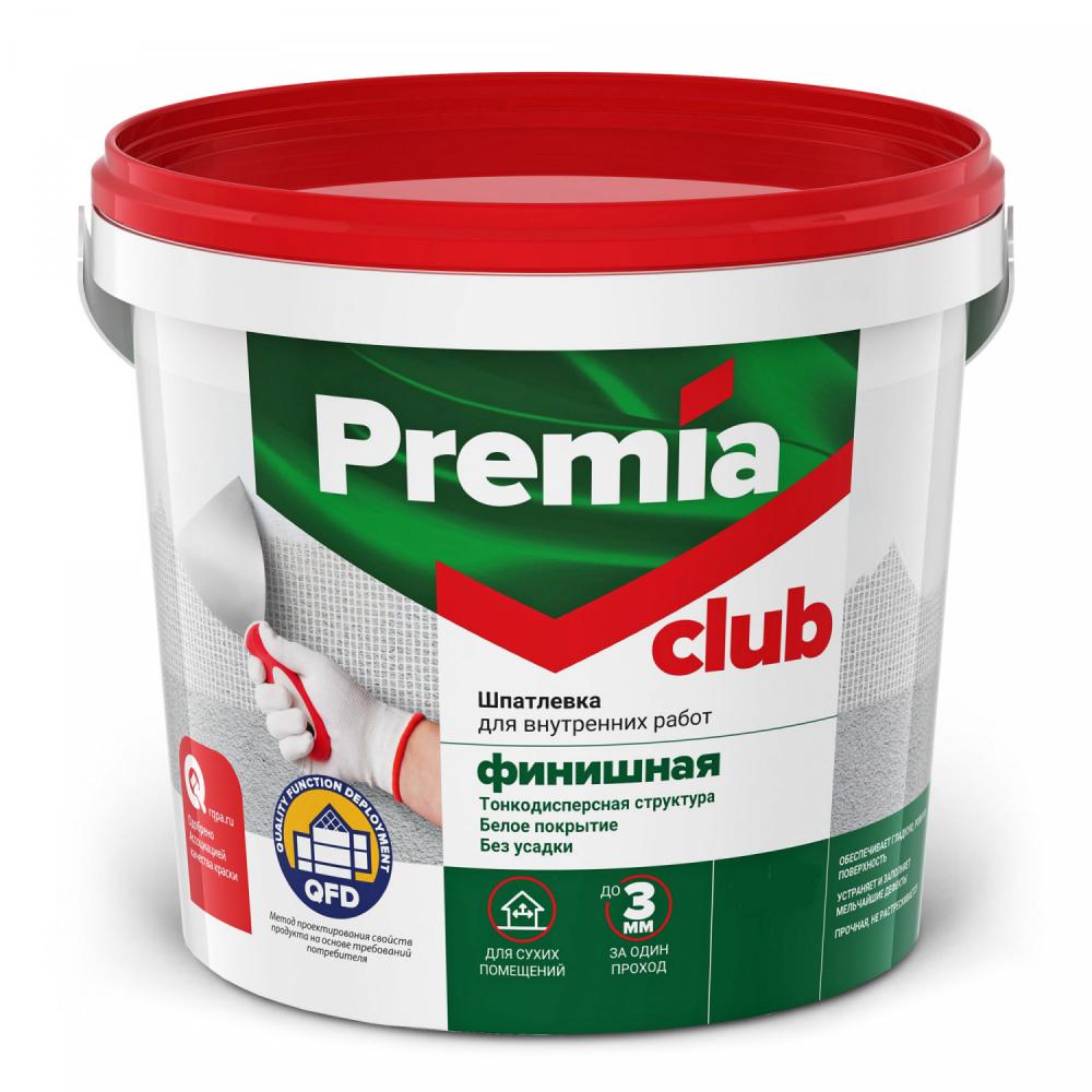 Шпатлевка club 3.5 кг финишная для внутренних