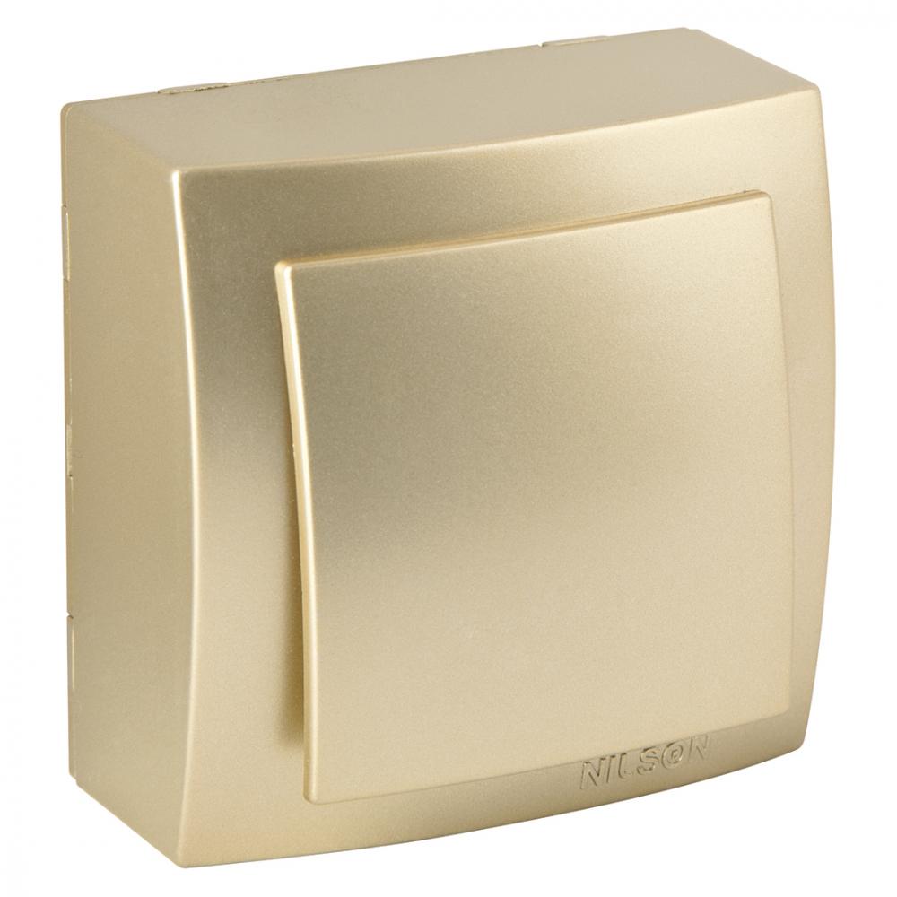 Выключатель nilson 1оп золото themis metallic 26151001