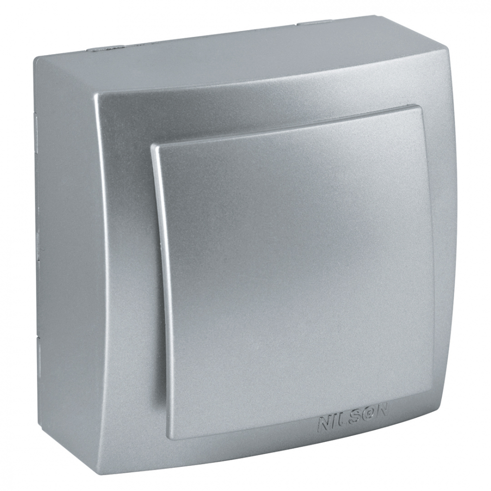 Выключатель nilson 1оп серебро themis metallic 26131001
