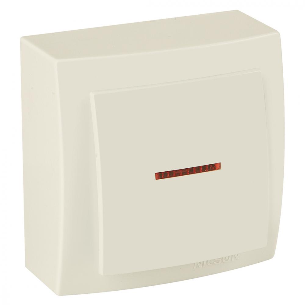 Выключатель nilson 1оп с подсветкой крем themis naturel 26121002