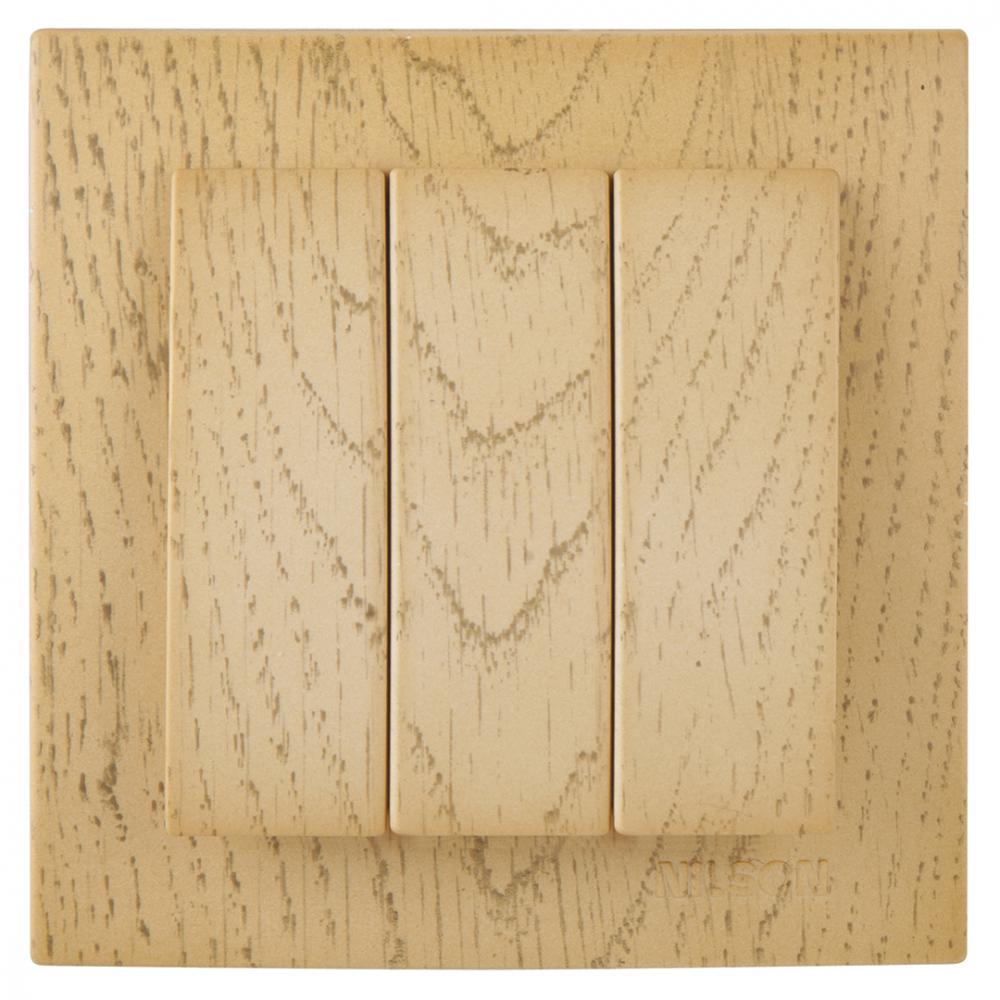 Выключатель nilson 3сп клен touran wood 24281066