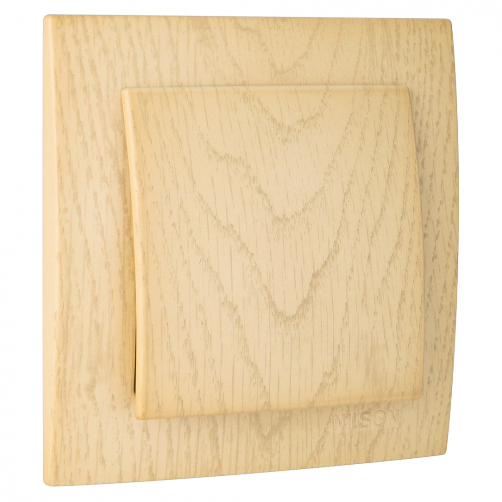 Выключатель nilson 1сп клен touran wood 24281001