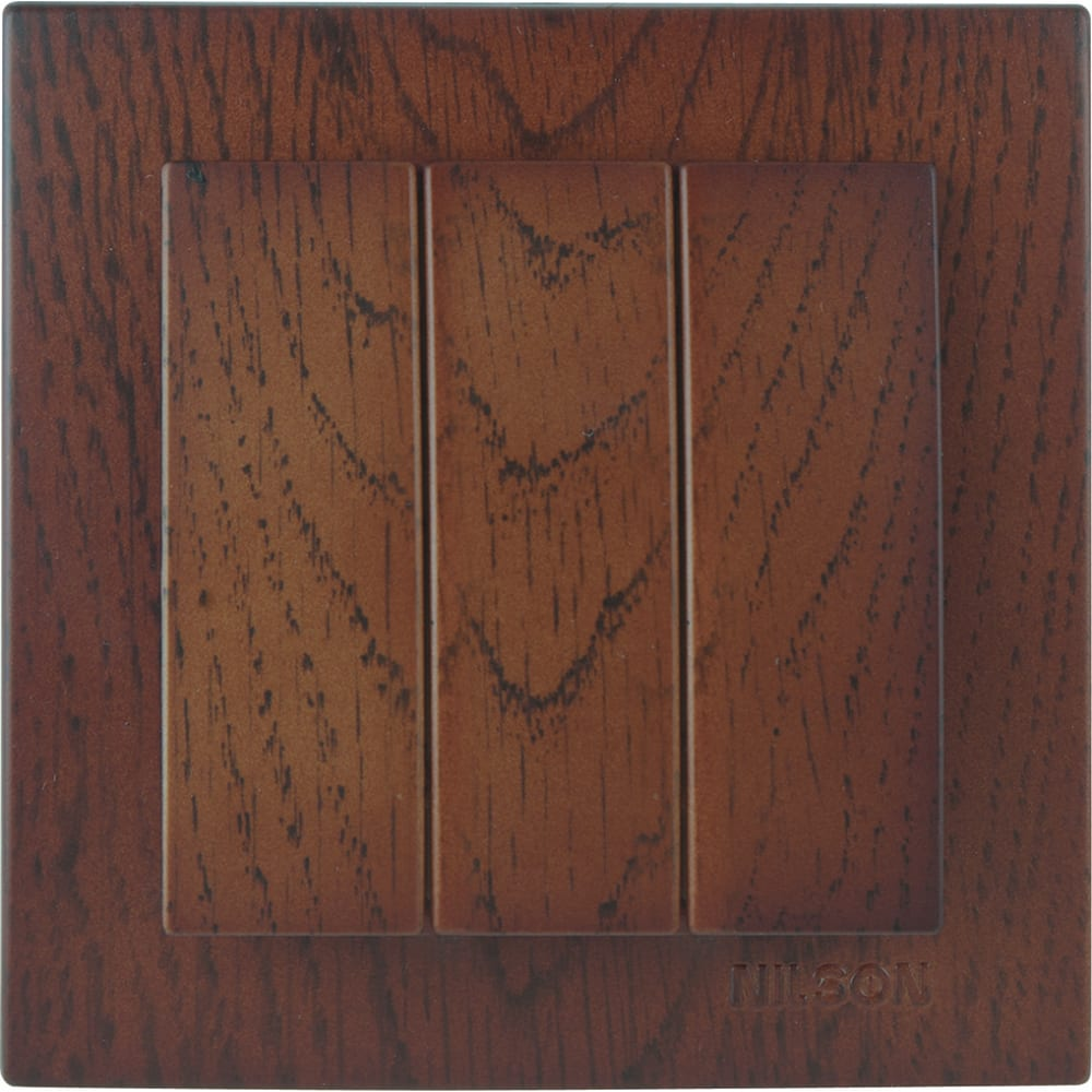 Выключатель nilson 3сп орех touran wood 24271066
