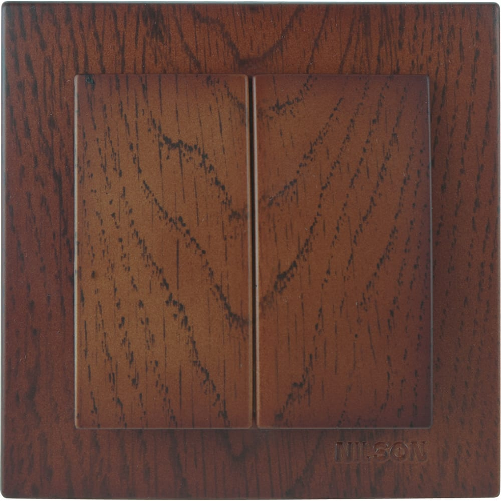 Выключатель nilson 2сп орех touran wood 24271003