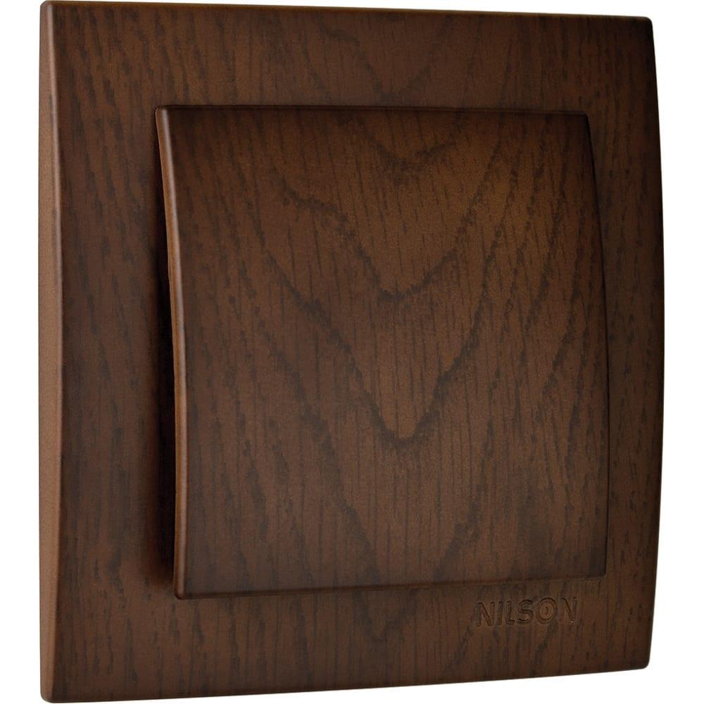 Выключатель nilson 1сп орех touran wood 24271001