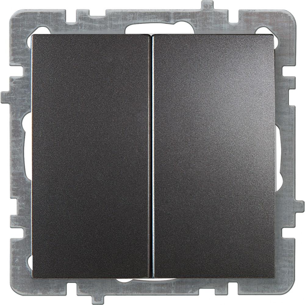 Механизм выключателя nilson 2сп антрацит touran/alegra metallic 24160403