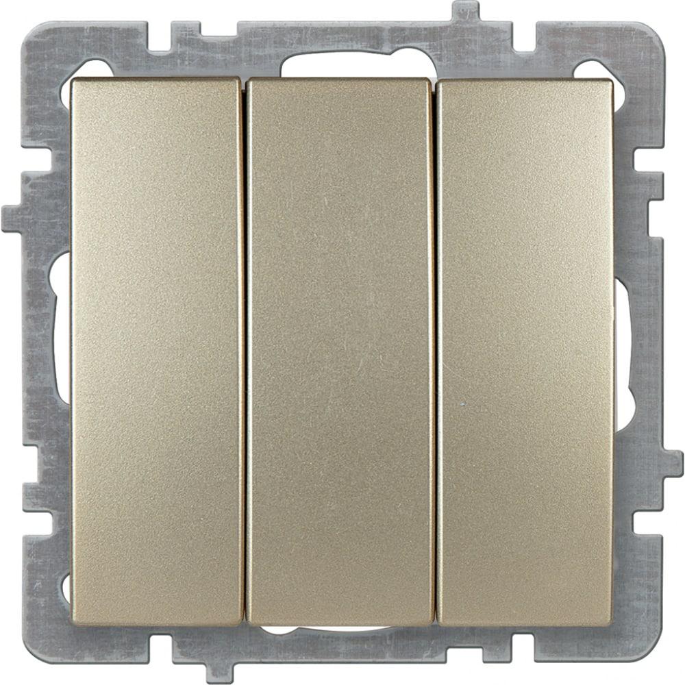 Механизм выключателя nilson 3сп золото touran/alegra metallic 24150466