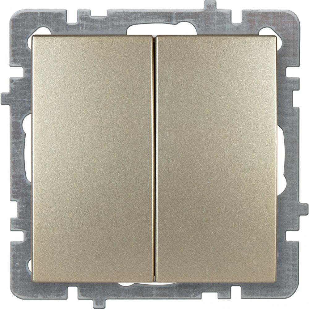 Механизм выключателя nilson 2сп золото touran/alegra metallic 24150403