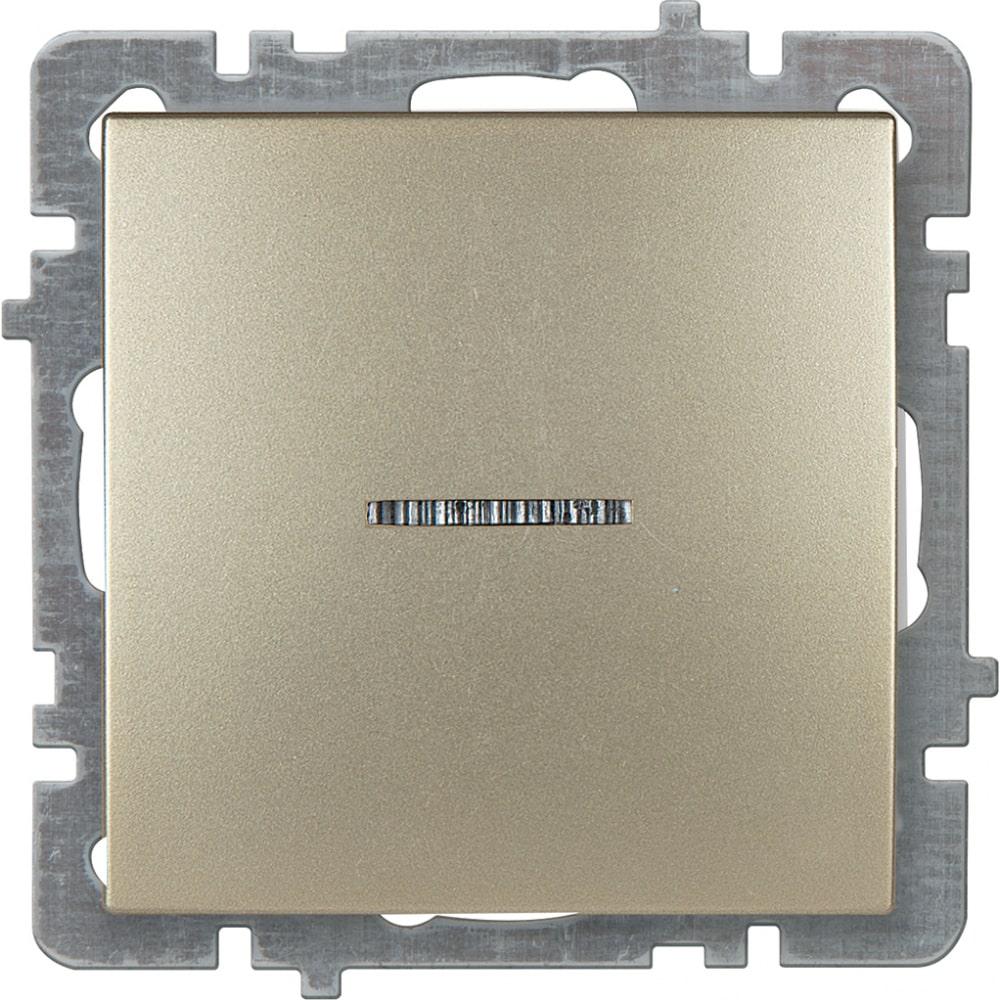 Механизм выключателя nilson 1сп с подсветкой золото touran/alegra metallic 24150402