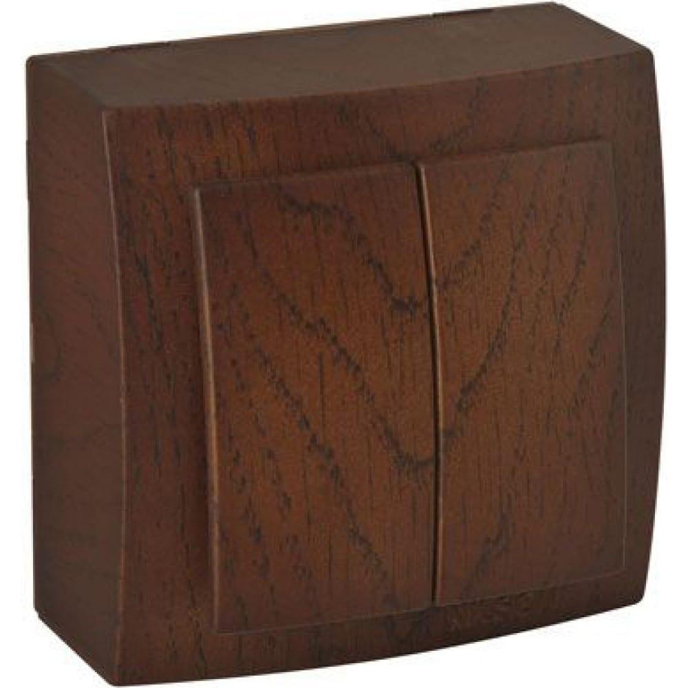 Выключатель nilson 2оп орех themis wood 26271003