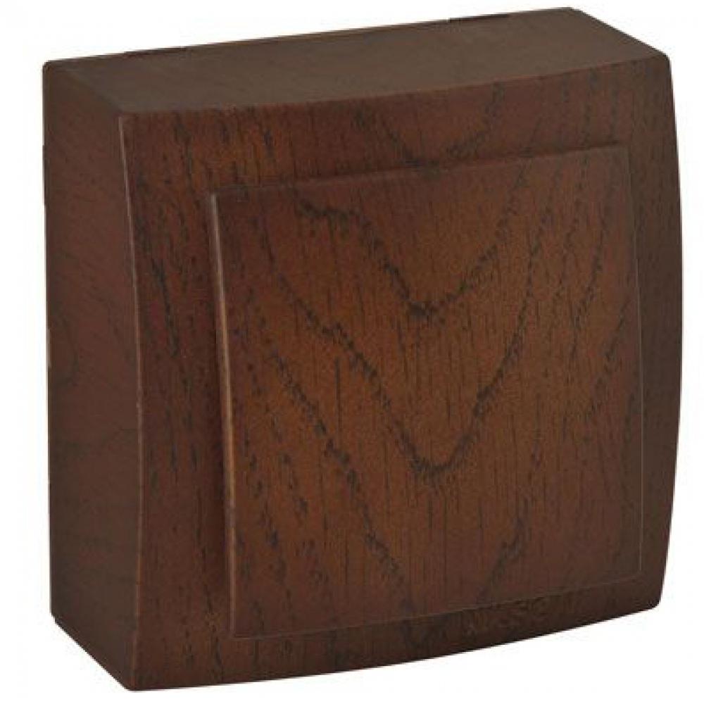 Выключатель nilson 1оп орех themis wood 26271001