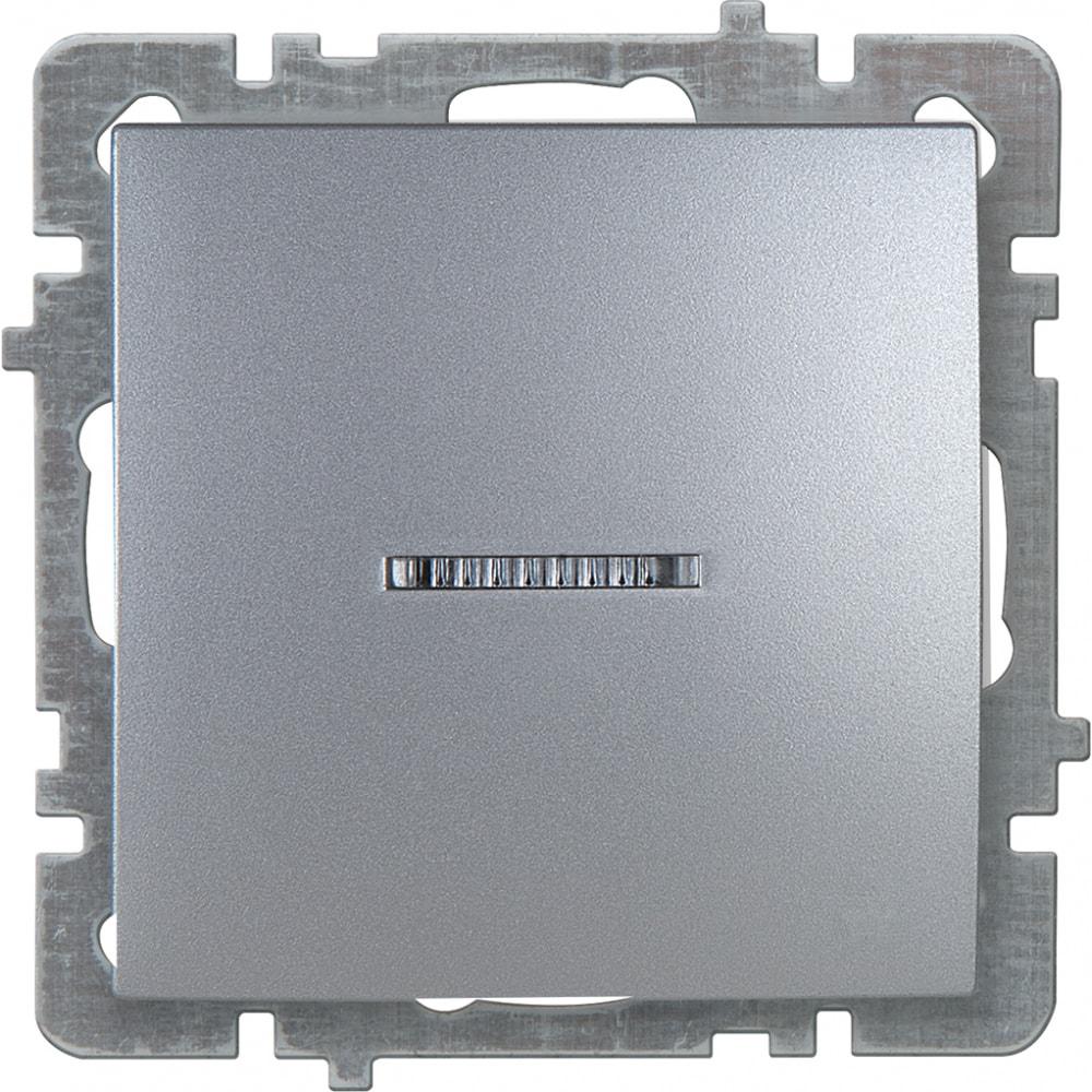 Механизм выключателя nilson 1сп с подсветкой серебро touran/alegra metallic 24130402