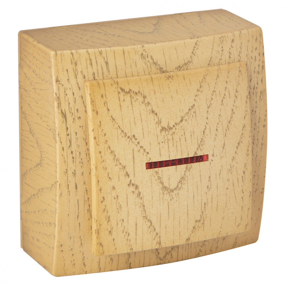 Выключатель nilson 1оп с подсветкой клен themis wood 26281002