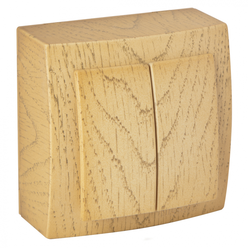 Выключатель nilson 2оп клен themis wood 26281003