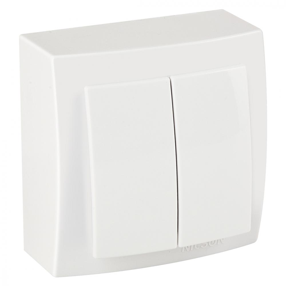Выключатель nilson 2оп белый themis naturel 26111003