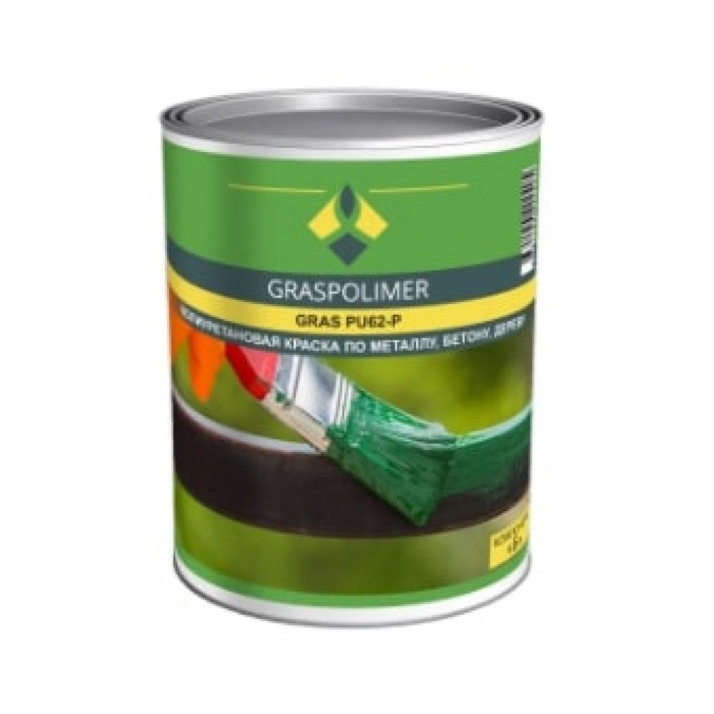 Однокомпонентная полиуретановая краска graspolimer pu62-p 5 кг цвет серый ral 7040 280065