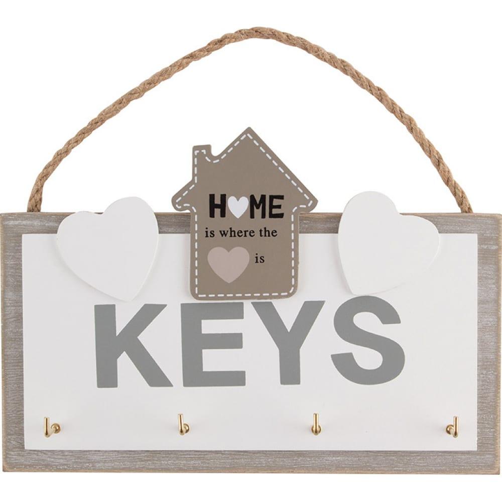 Купить Ключница с подвесом волшебная страна 4 крючка 005846