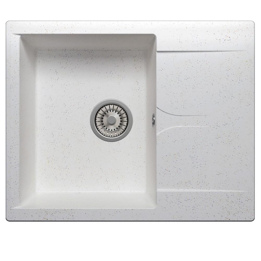 Кухонная мраморная мойка polygran gals-620 белый №26