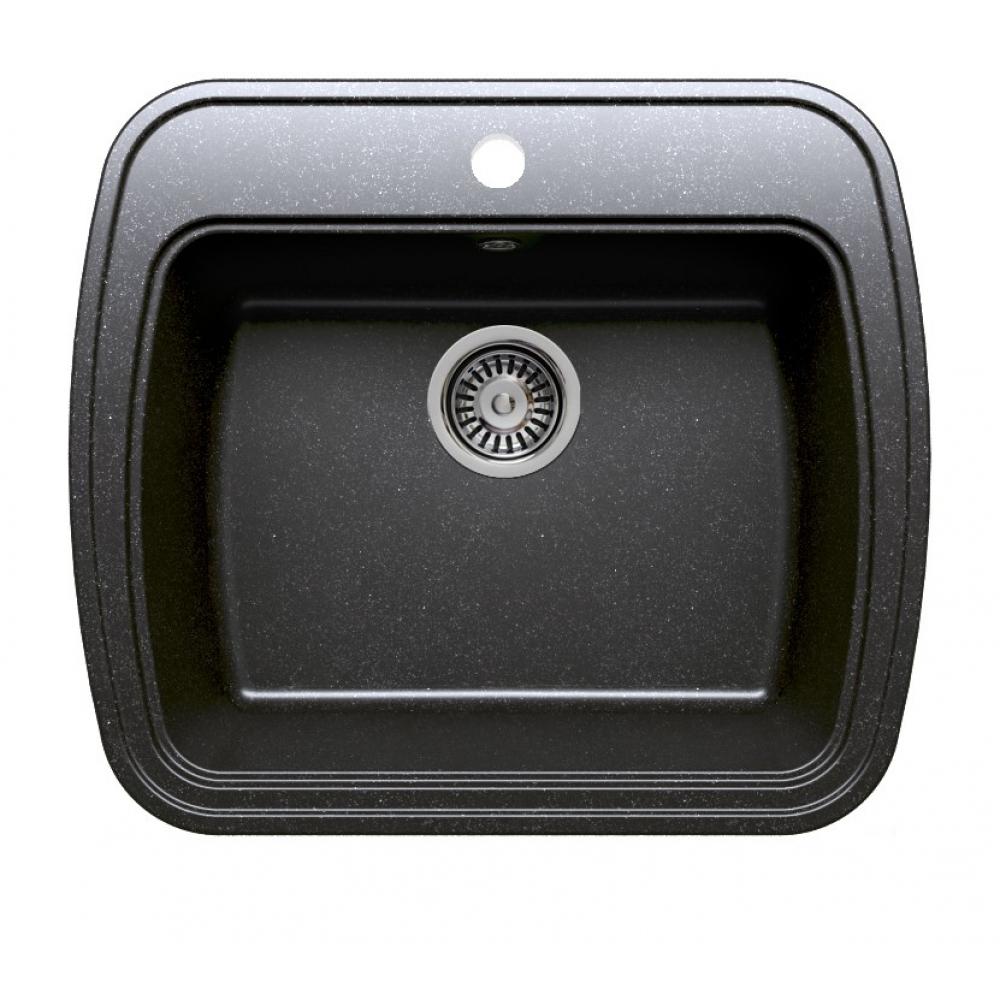 Кухонная мраморная мойка polygran f-11 черный №16