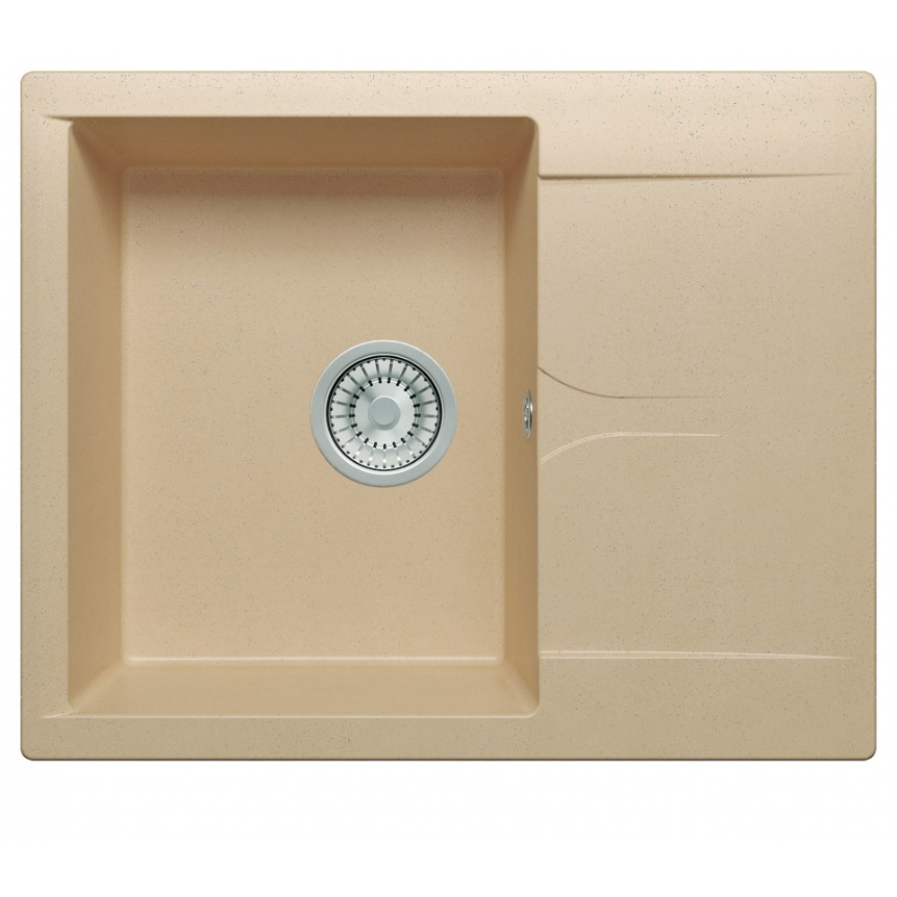 Кухонная мраморная мойка polygran gals-620 бежевый №27
