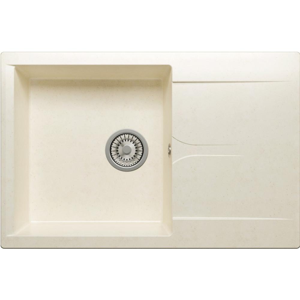 Кухонная мраморная мойка polygran gals-760 хлопок №331